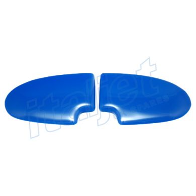 Seat Bum Pads Gloss Blue