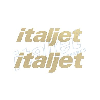 Stickers Front Italjet Pair